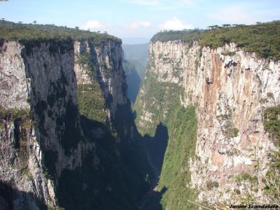 Foto que mostra o canyon em Itaimbezinho