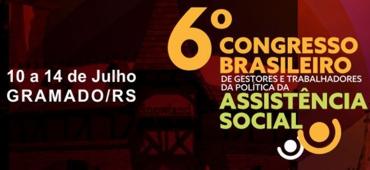 Imagem do evento 6° Congresso Brasieleiro de Gestores e Trabalhadores da Política da Assistência Social