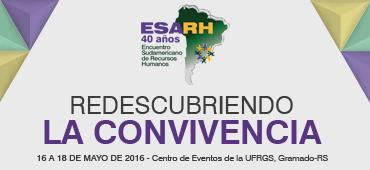Imagem do evento ESARH 2016 - Encuentro Sudamericano de Recursos Humanos